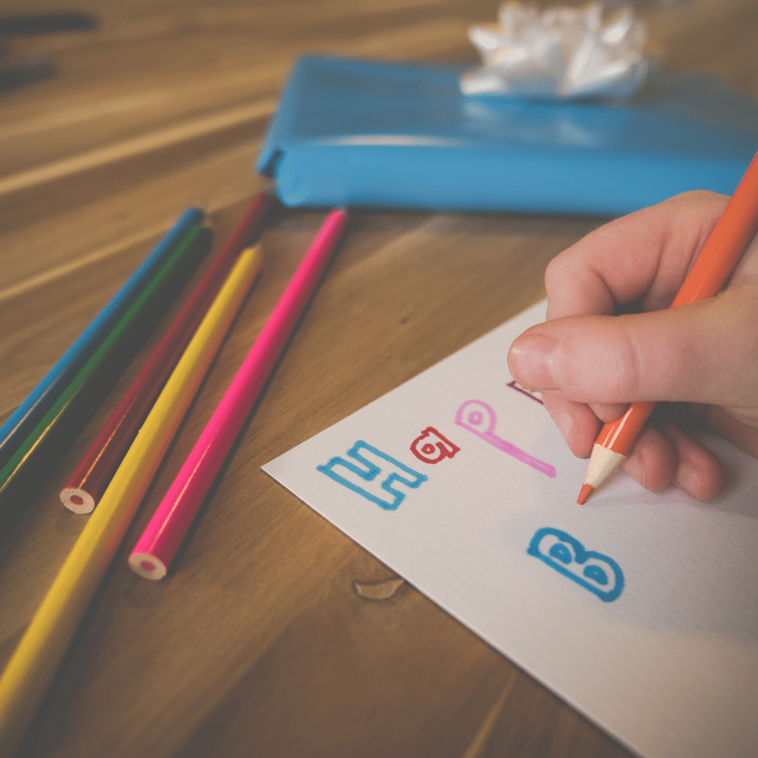 Child Writing Birthday Card